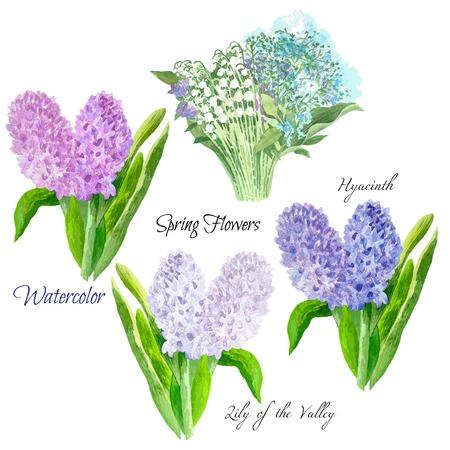 Ensemble de fleurs de printemps Banque d'images - 78243833