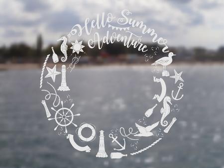 Nautical  sea composition