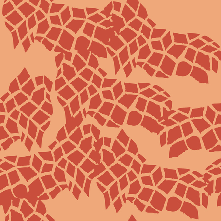 Seamless pattern with savanna animals Illustration