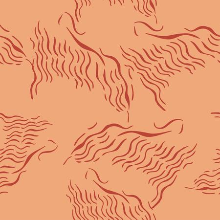 Seamless pattern with savanna animals. Hand drawn sketches. Vector Illustration Ilustração