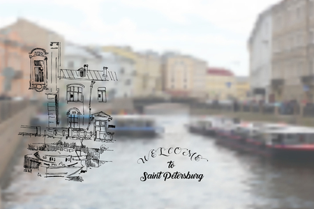 Saint Petersburg Street and Landscape Sketches