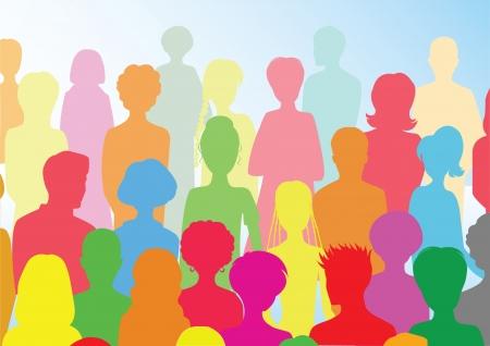 juventud: multitud colorida