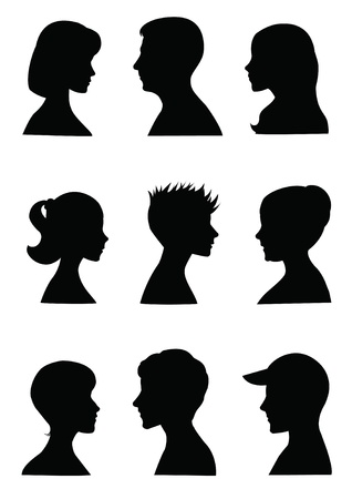 face silhouette: Anonymous Mugshots