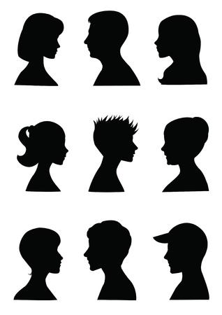 visage profil: Mugshots anonymes