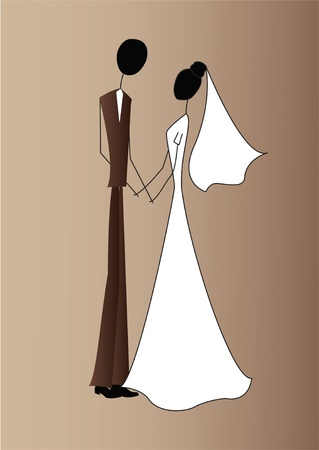 the spouse: bride and groom