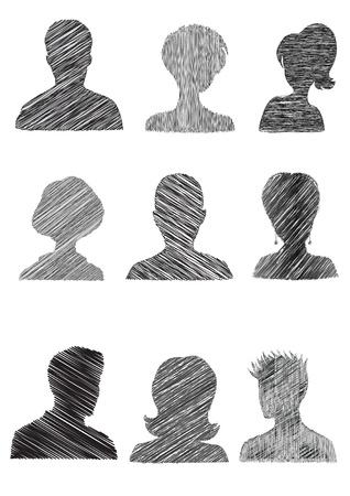 mug shot: Anonymous Mugshots with scribble effect
