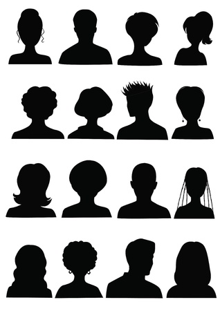 head and shoulders: Anonymous Mugshots Illustration