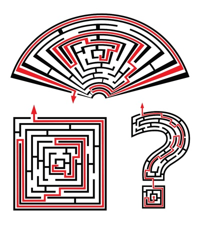 set of sold labyrinths Vector