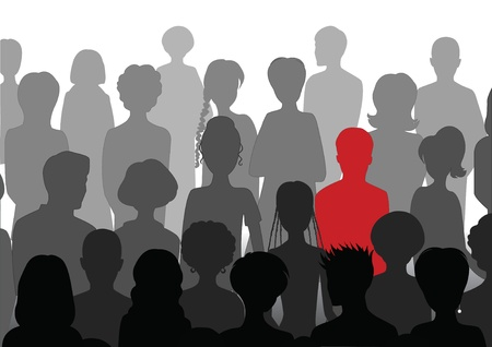 Stand out in a crowd Vector