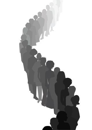 fila de personas: cola