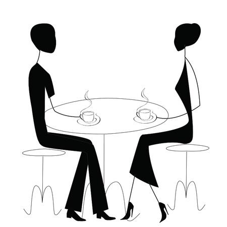 black lady talking: el hombre y la mujer en un caf�