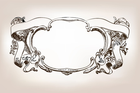ornamental scroll: Antique frame