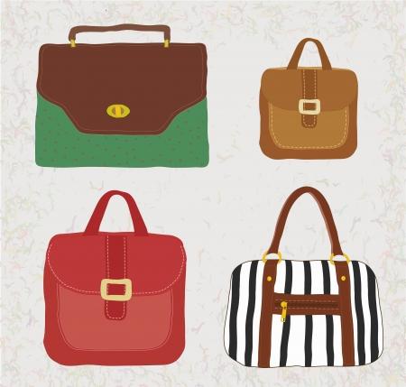 beach bag: Set of hand-drawn bags