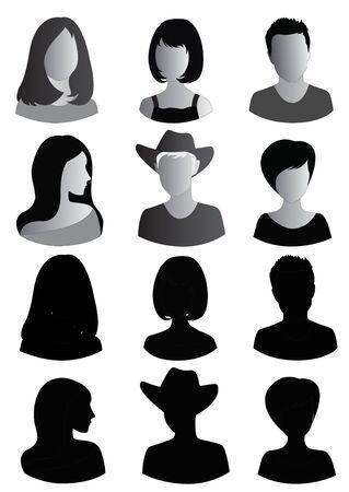 Anonymous Mugshots of men and women
