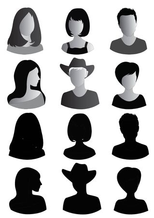 head on shoulder: Anonymous Mugshots of men and women