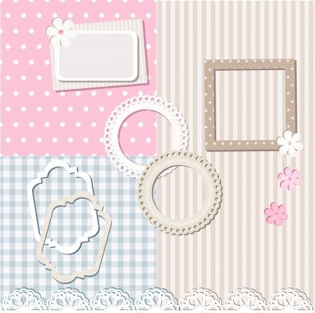 Scrapbook set and 3 seamless patterns