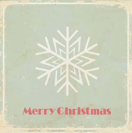 Christmas card  vintage style photo
