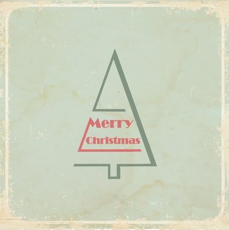 Christmas card, vintage style