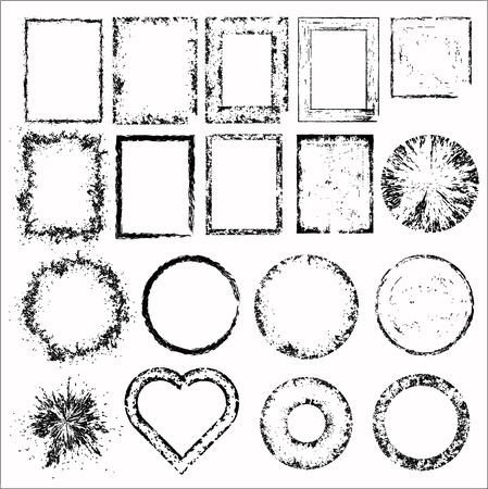 Set of grunge frames.