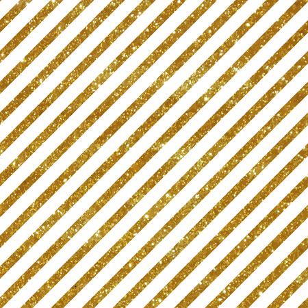 Seamless pattern with diagonal golden stripes. Glitter texture.