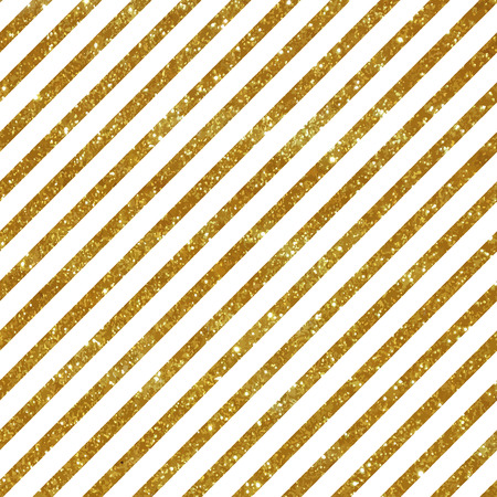 Seamless pattern with diagonal golden stripes. Glitter texture.