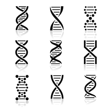 Symbols in the form of DNA chain Stock Photo