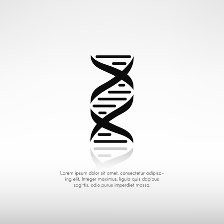 DNA symbol with reflection and a place for text.