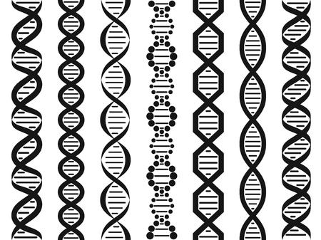 DNA set, seamless pattern.