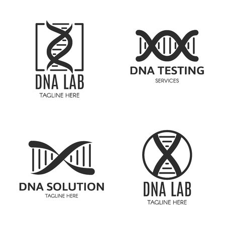 Set of logo with DNA and a place for text.