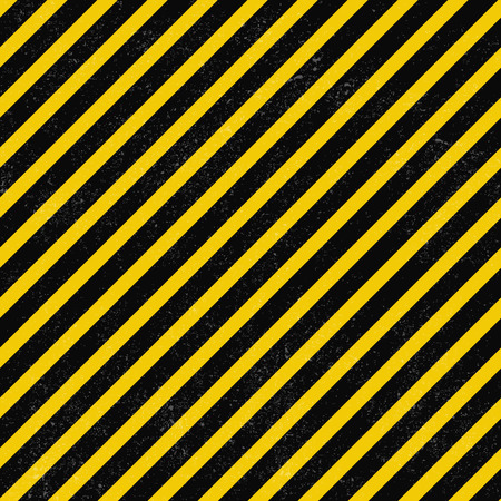 Black and yellow stripes seamless pattern with grunge texture.