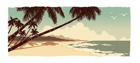 고요한 장면: 바닷가 일러스트