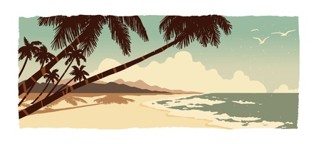 island beach: Beach Illustration