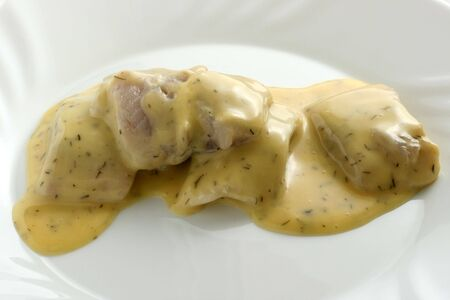 herring with mustard sauce