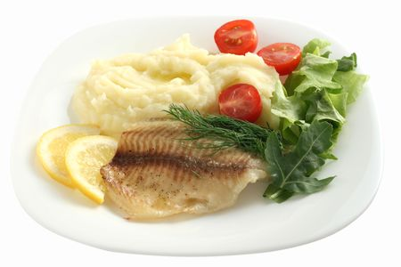 tilapia with mashed potato