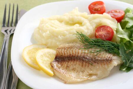 tilapia with mashed potato