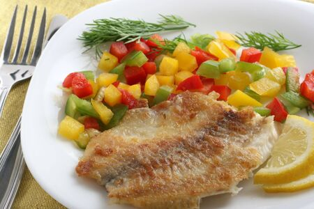 fried tilapia with pepper Stock Photo - 7626169