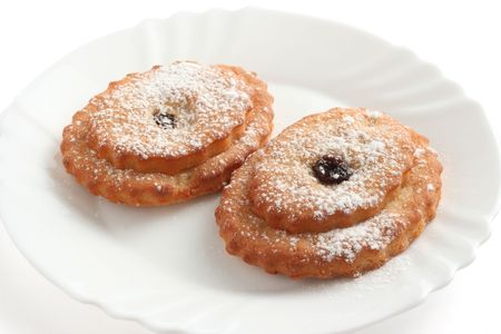 castor: cookies with castor sugar on a plate Stock Photo