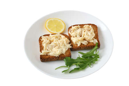 toasts with codfish Stock Photo - 8644263