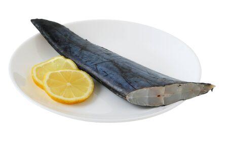 fresh swordfish with lemon Stock Photo