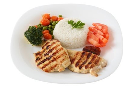 grilled chicken with rice