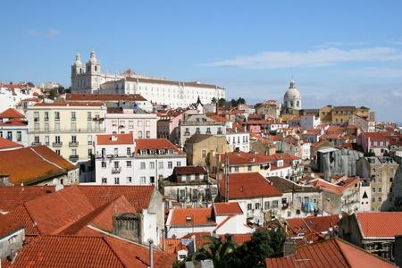 view on city Lisbon Stock Photo - 9160090