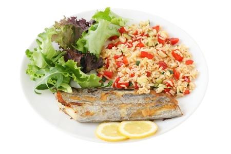 grilled swordfish wit rice  Stock Photo - 9367971