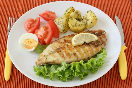 fried fish with potato