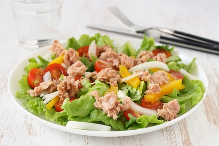 salad with tuna Stock Photo