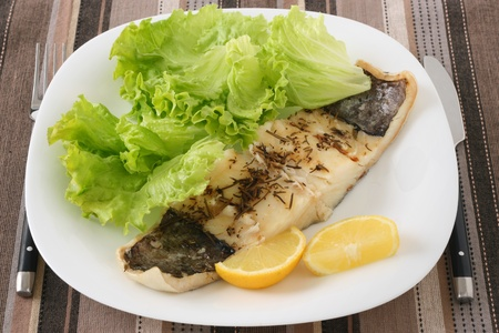 boiled codfish with salad