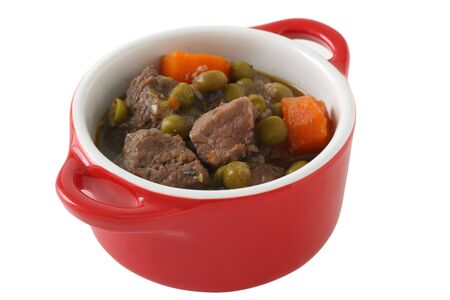 beef stew in small bowl Stock Photo