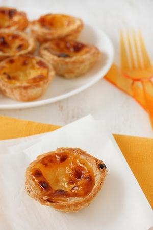 nata: pasteis de nata Stock Photo