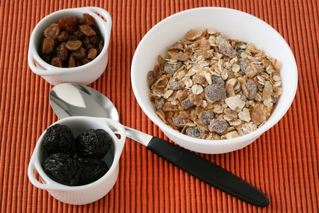 frutas secas: cereales con frutas secas