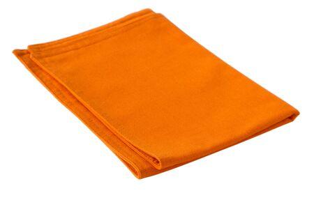 orange napkin Stock Photo