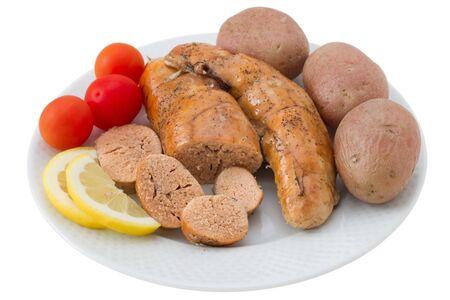potato cod: cod roe with potato and lemon Stock Photo